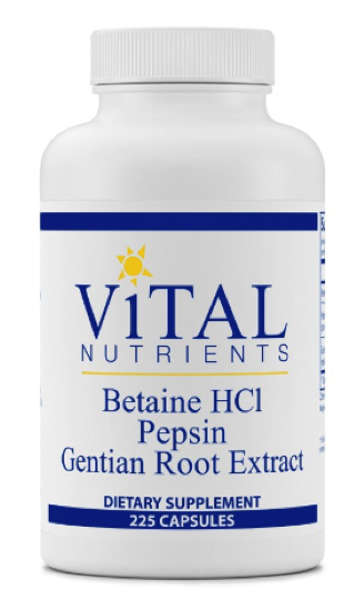 Betaine HCl, Pepsin, Gentian Root Extract