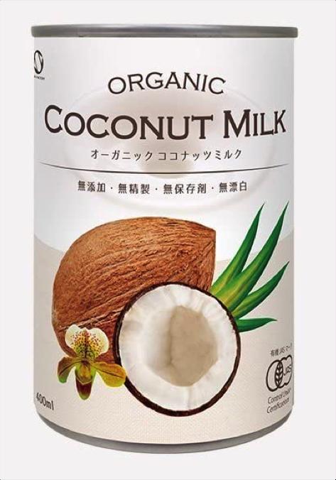有機JAS認定 オーガニックココナッツミルク 400ml缶